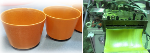 pots and plastic films from legumes