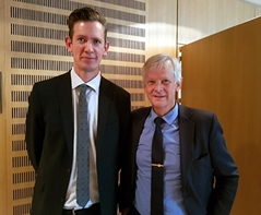 Patrik Klintbom (left) and Ingvar Landälv (right) at the Steering Committee meeting of ETIP Bioenergy
