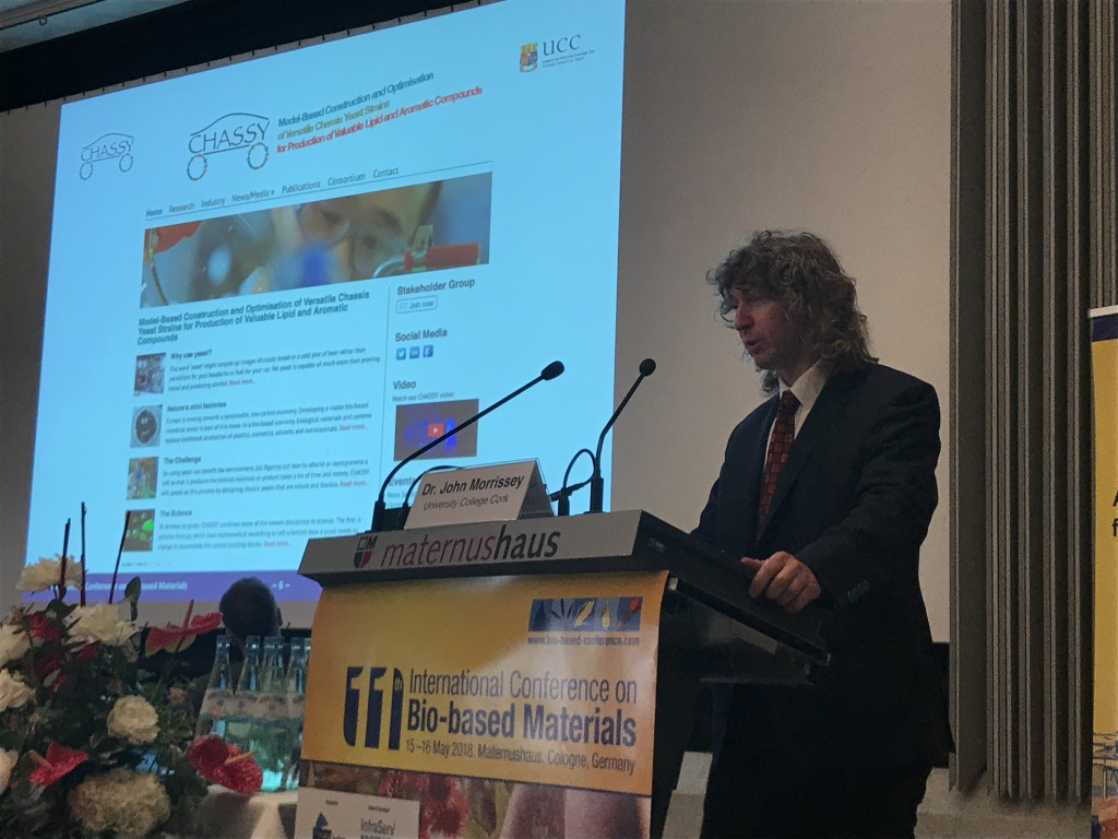 Dr. John Morrissey at the International Conference on Bio-Based Materials in Cologne, Germany on 15-16 of May.
