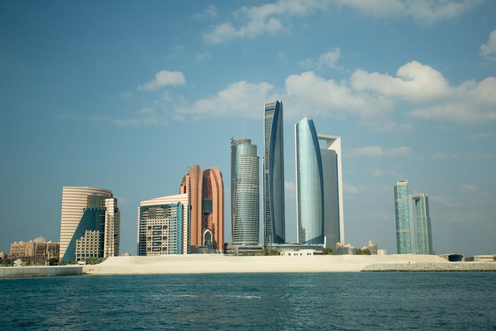 Abu Dhabi skyline, E.A.U.