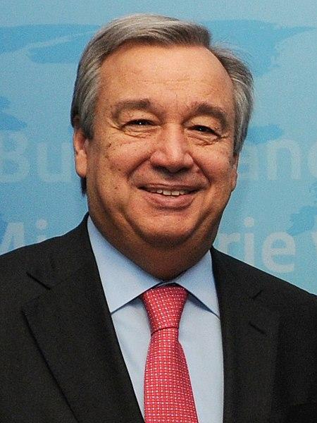 Antònio Guterres, UN Secretary-General.